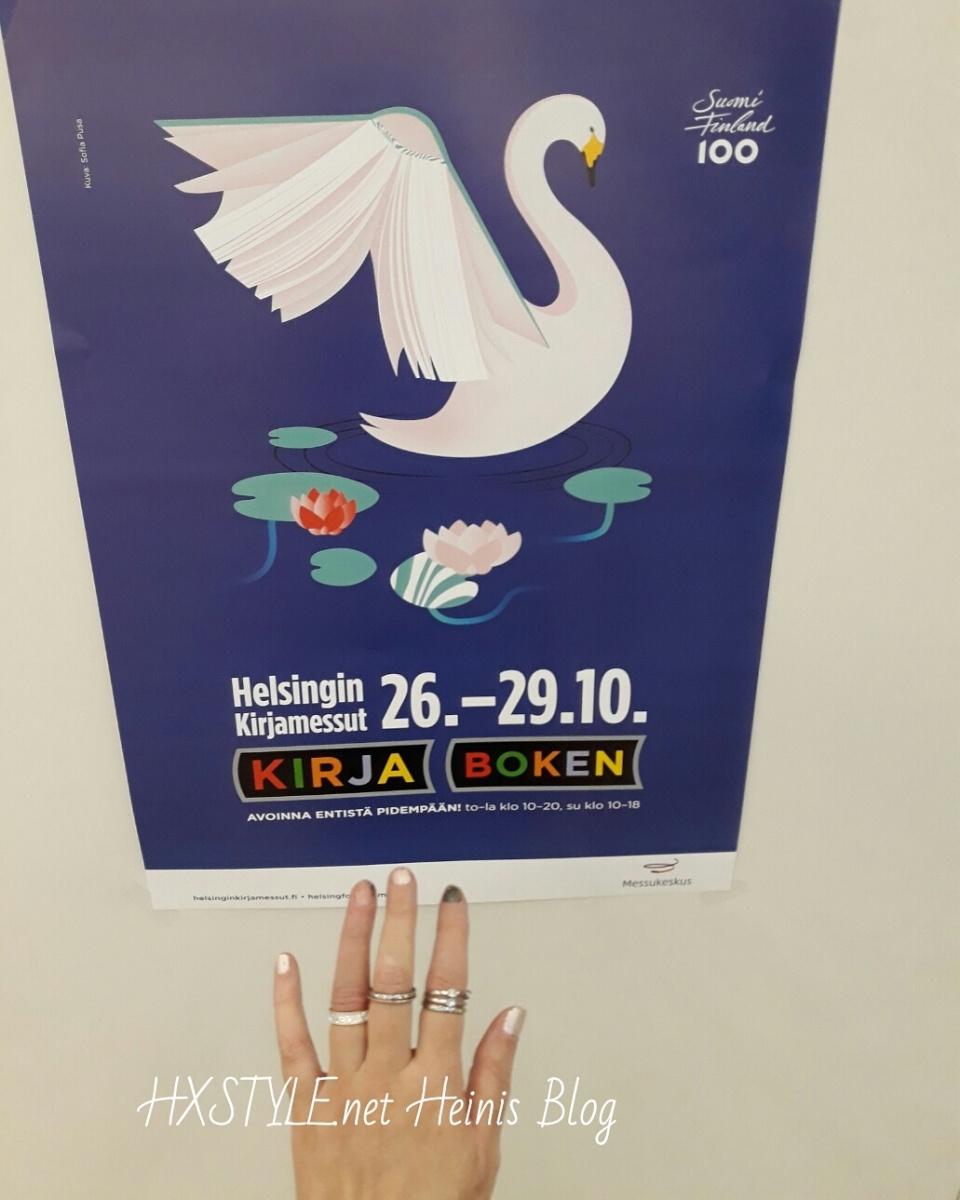 KULTTUURI. HELSINGIN KIRJAMESSUT, KIRJALLISUUS. Kirjat, Luennot, Valokuvaus jne. Messupäivä 27.10. Blogiin 31.10. Ruoka- ja Viinimessut 26. - 29.10.2017 MESSUKESKUS, Helsinki 2/3. HXSTYLE.net HEINIS Suosikki&Elämäntapa