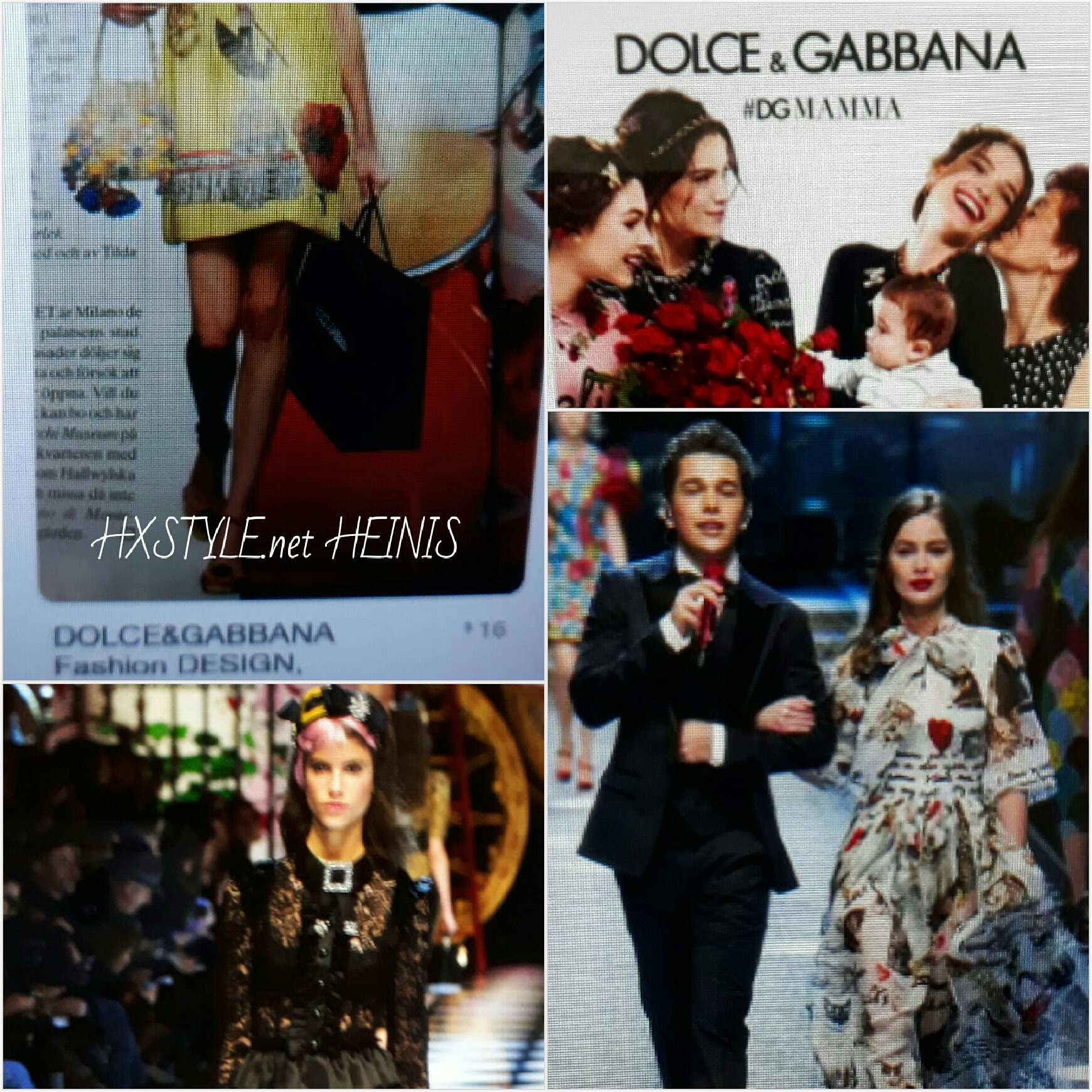 VOGUE NEWS&TRENDS. FASHION DESIG DOLCE&GABBANA Milano, ITALY…COLLECTIONS 2016 – 2017. HXSTYLE.net HEINIS Favourite 15.1.2018