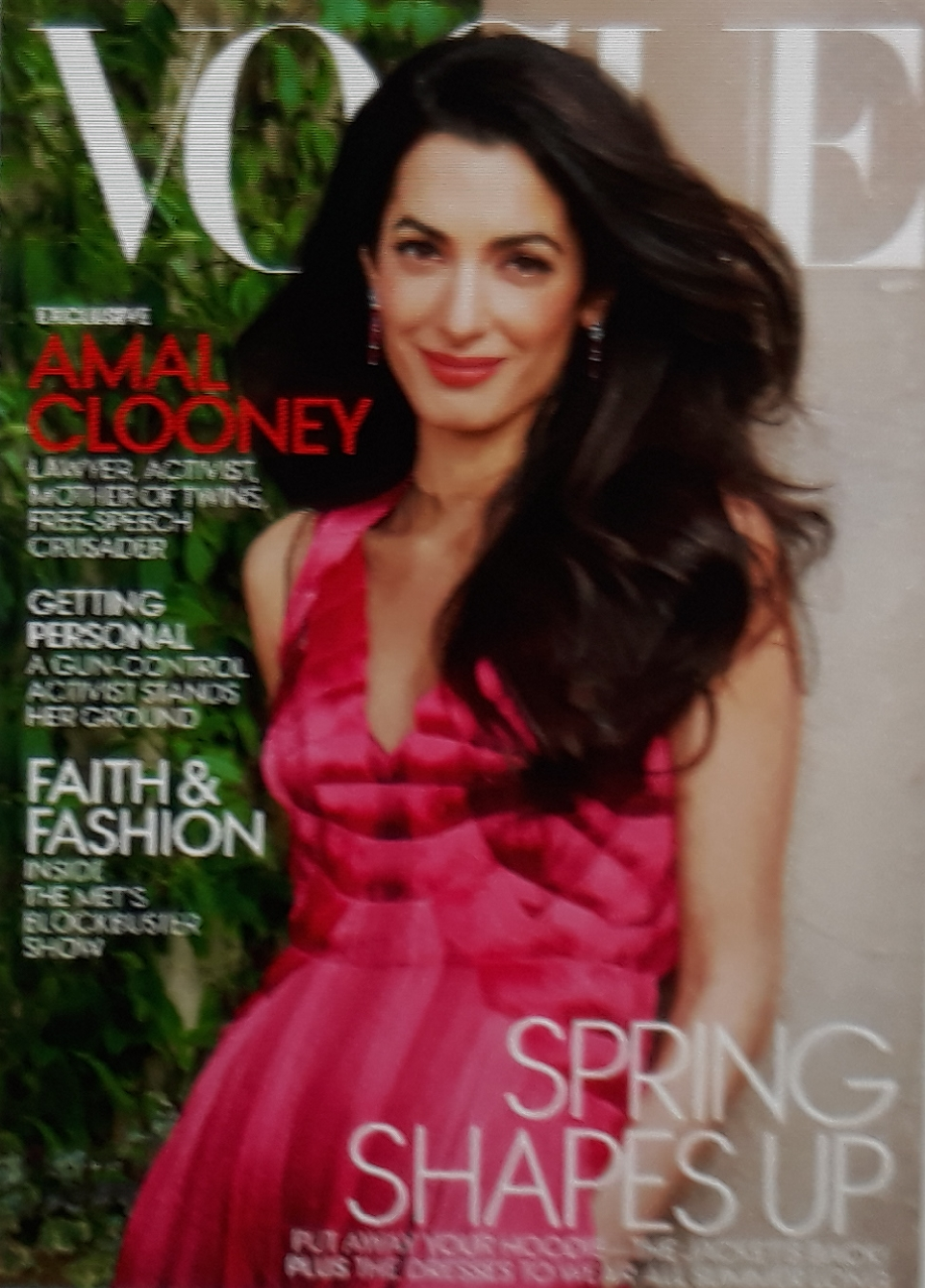 VOGUE NEWS&TRENDS. WORLD Proceedings NEWS. VOGUE USA, New York COVER April2018.        AMAL GLOONEY…FASHION, BEAUTY&LIFESTYLE, Family&Inside Cover…19.4.2018 Favourite. HXSTYLE.net HEINIS