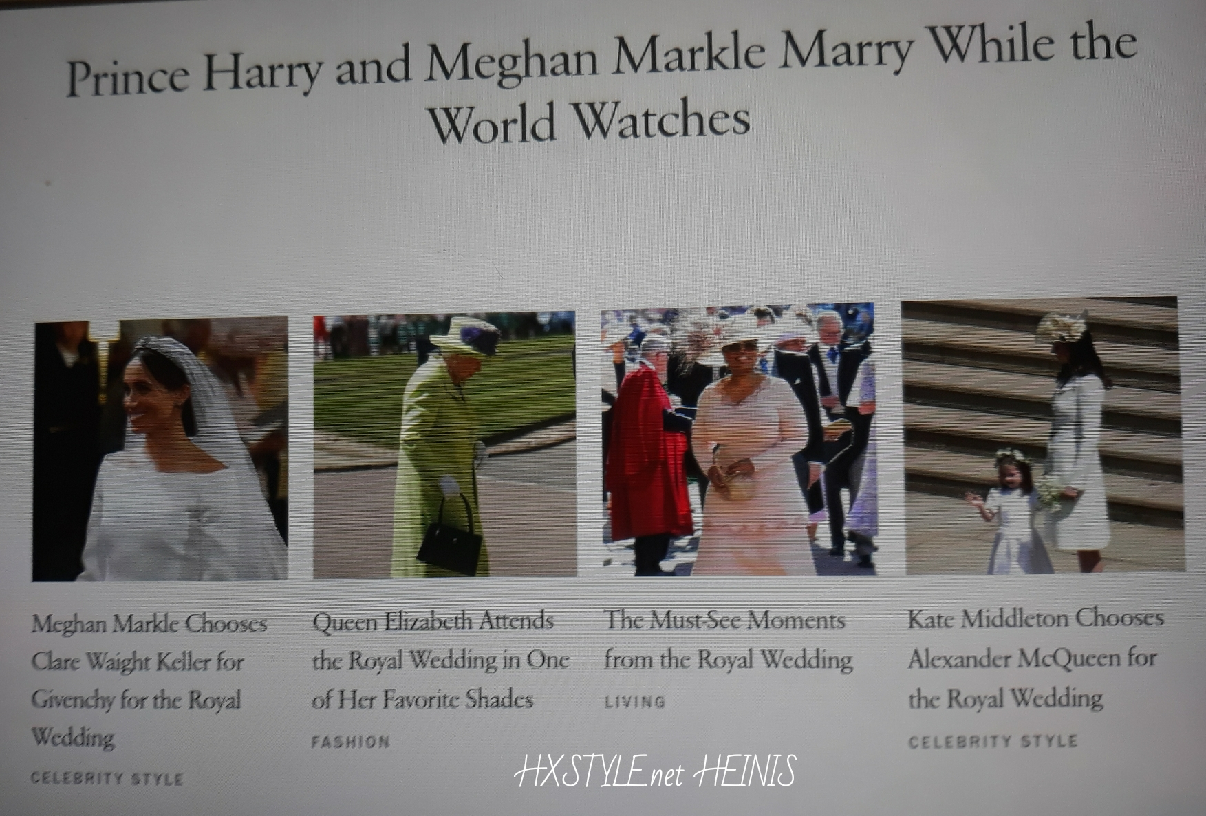 VOGUE NEWS&TRENDS. ENGLAND ROYAL FAMILY. PRINCE HARRY &Megan Markle 19.5.2018 ROYAL WEDDING&FASHION STYLES, Accessories, Invited Quests 600, PHOTOS…Windsor Castle. 22.5. Favourite. HXSTYLE.net HEINIS